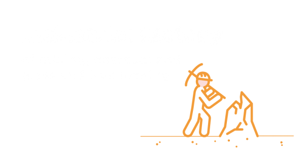 Industrial history of mining, charcoal, and glass and iron making.