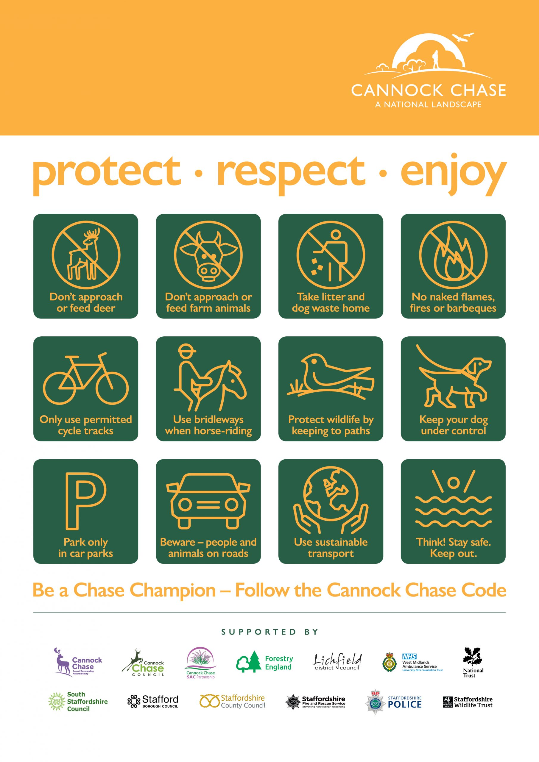 Follow the code and help to protect Cannock Chase